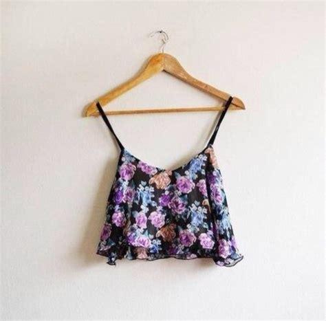 Flowery Tank Top shirt tank top pink light blue floral flowers roses