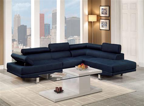 blue sectional sofa  poundex