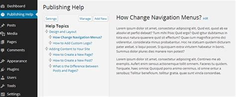 help section how to add a help resource section in wordpress admin