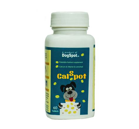 calcium supplements for dogs calspot calcium supplement for 60 tablets dogspot pet supply store