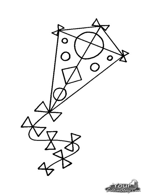kite coloring page template kite coloring pages free large images