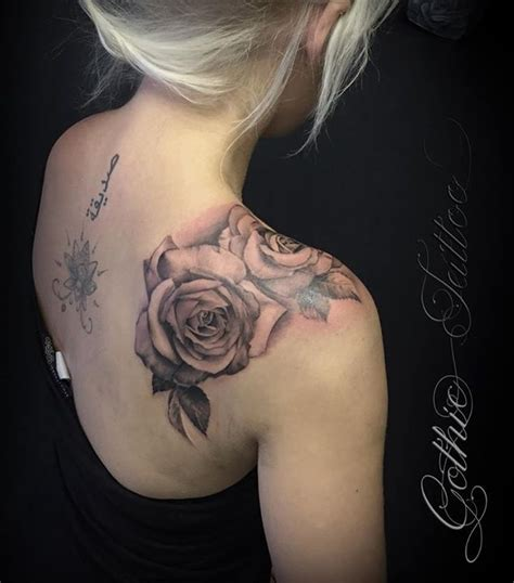 rose tattoo on back shoulder 24 tattoos and design ideas