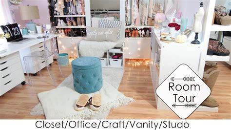 diy craft studio 5 into 1 room tour diys closet office vanity craft