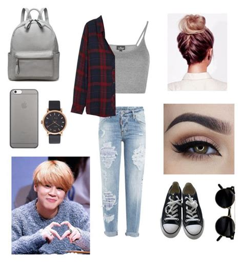 jimin bts school quot school with jimin quot by bts outfit imagines liked on