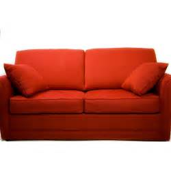 Red Microfiber Sectional Sofa by Couch
