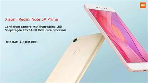 Xiomi Redmi Note 5a Prime xiaomi redmi note 5a prime 5 5 inch 4gb ram 64gb rom