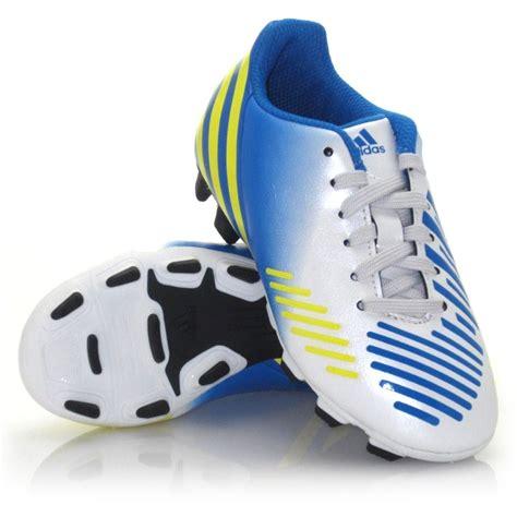 Adidas Predito Lz Fg Junior 30 adidas predito lz trx fg junior football boots white yellow blue slashsport