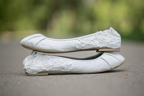 Lace Wedding Flats by Ivory Wedding Bridal Ballet Flats With Ivory Lace Applique Us