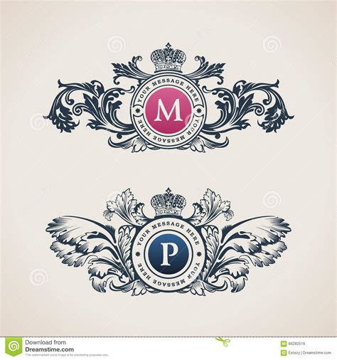 royal design elements vector flower calligraphic vintage royal design elements cartoon