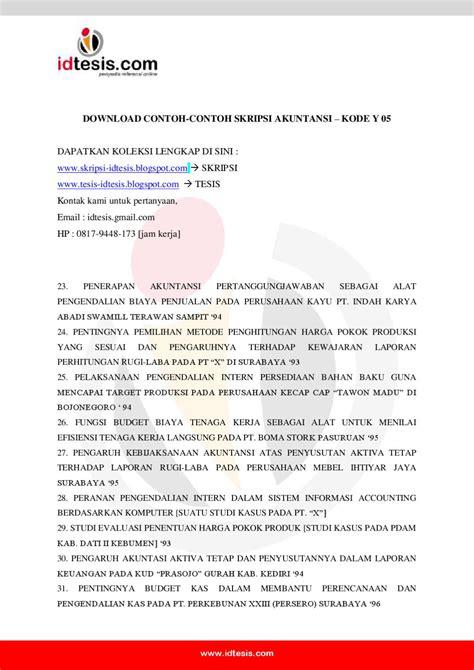 tesis akuntansi pertanggungjawaban contoh skripsi akuntansi y 05 by sanjaya jogja issuu