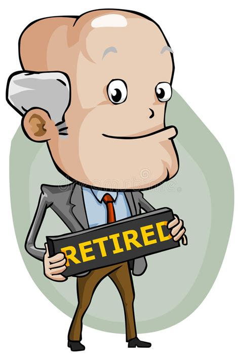 clipart pensione retired stock vector illustration of pension businessman