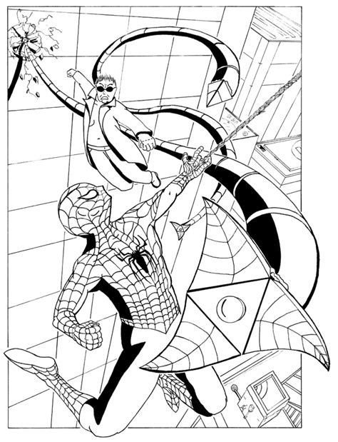 Doc Ock Attacks By Chrury Sanson On Deviantart Doc Ock Coloring Pages