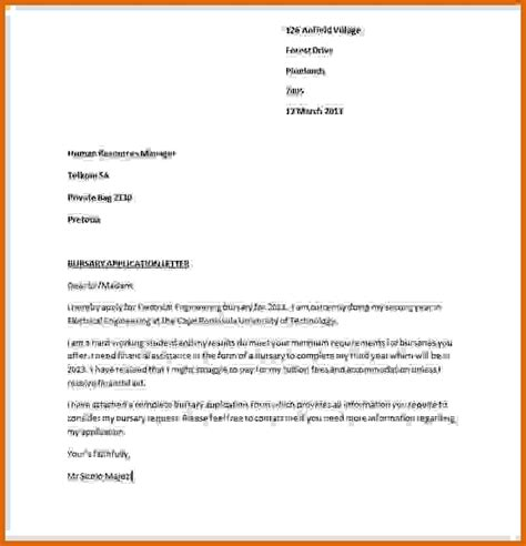 application letter for bursary in nursing custom writing at 10 writing an application letter for