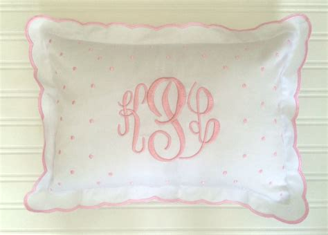 Baby Crib Pillow by Monogrammed Baby Pillow Crib Nursery Pink Blue White