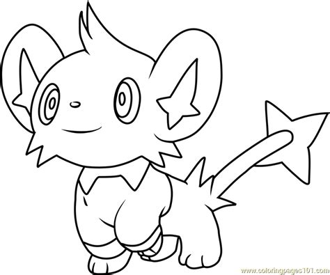 shinx pokemon coloring page free pok 233 mon coloring pages