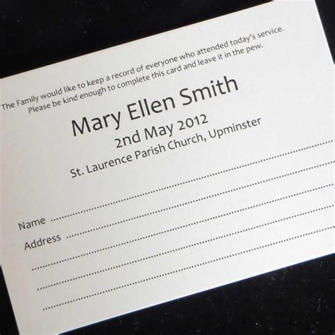 print on demand card games uk 10 funeral attendance cards fat06 ijc your print on demand