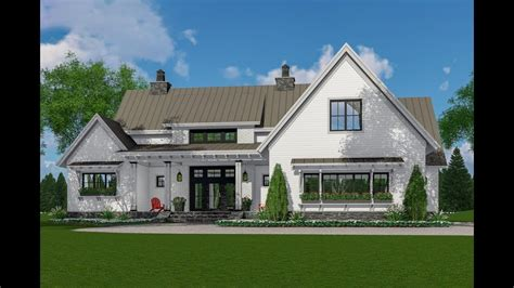 architectural designs modern farmhouse plan rk