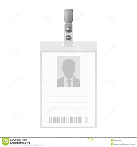 photo identification card excel template blank badge stock vector illustration of admission