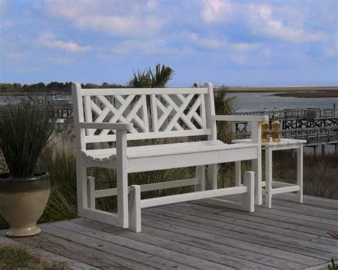 chippendale patio furniture chippendale 48in glider recycled outdoor furniture pwgl cb