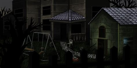 Possessed Haunted Backyard By Osirislord On Deviantart Backyard Haunted House Ideas
