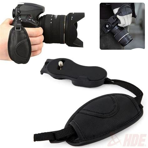 1 4 quot leather grip wrist for canon nikon sony pentax samsung cameras ebay