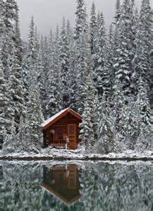 rustic log cabin in the snow cabin cozy cabin pinterest