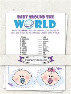 around the world baby shower