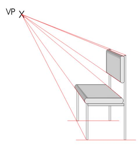 One Point Perspective Sofa by One Point Perspective Chair