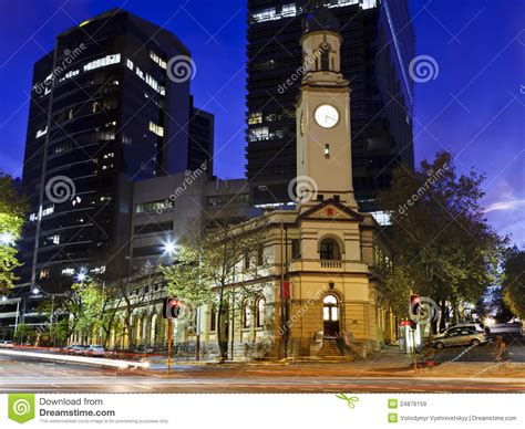 Sunset Post Office by Sydney Post Office Sunset Royalty Free Stock Images