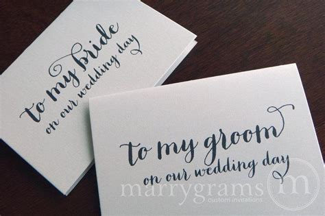 Wedding Card Groom To by Wedding Card To Your Or Groom On Your Our Wedding