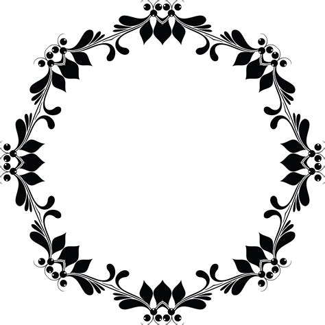 Wedding Flowers Clip Black And White by Flower Frame Clipart Black And White Free Best