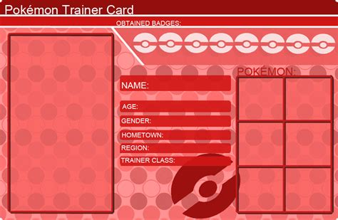 make trainer card card blanks images