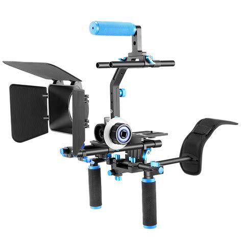 Dslr Rig Set Kit Handheld Shoulder Mount Follow Focus Matte Box neewer professional dslr rig set kit system f all dslr cameras ebay