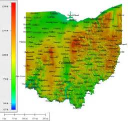 Topographical Map Of Ohio by Topocreator Create And Print Your Own Color Shaded