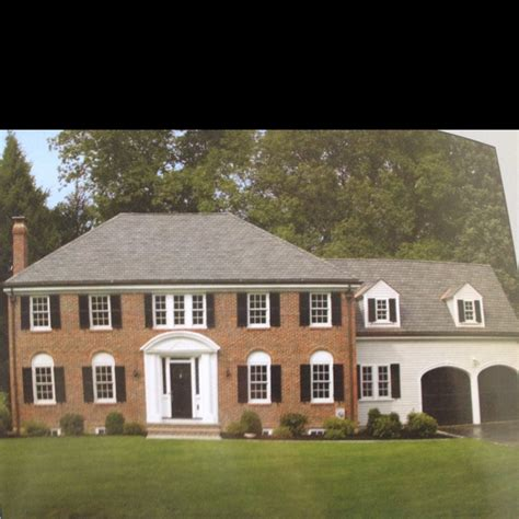 brick colonial homes dream house colonial brick dream house pinterest