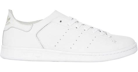 Adidas Originals Stan Smith Clean Leather Trainers S79465 Grey Shoes 3 adidas originals stan smith leather sock trainers in white for lyst