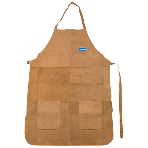 leather welding apron new silverline welders welding apron chrome leather length safety ppe ebay