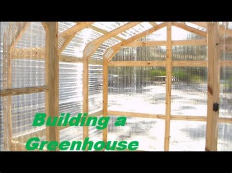 building  greenhouse diy greenhouse construction youtube