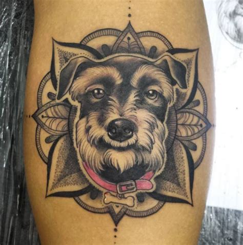 schnauzer tattoo 40 amazing tattoos for tattooblend
