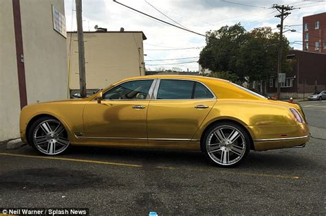 Gold Plated Bentley 50 Cent Takes A Ride In His Gold Plated Bentley Despite