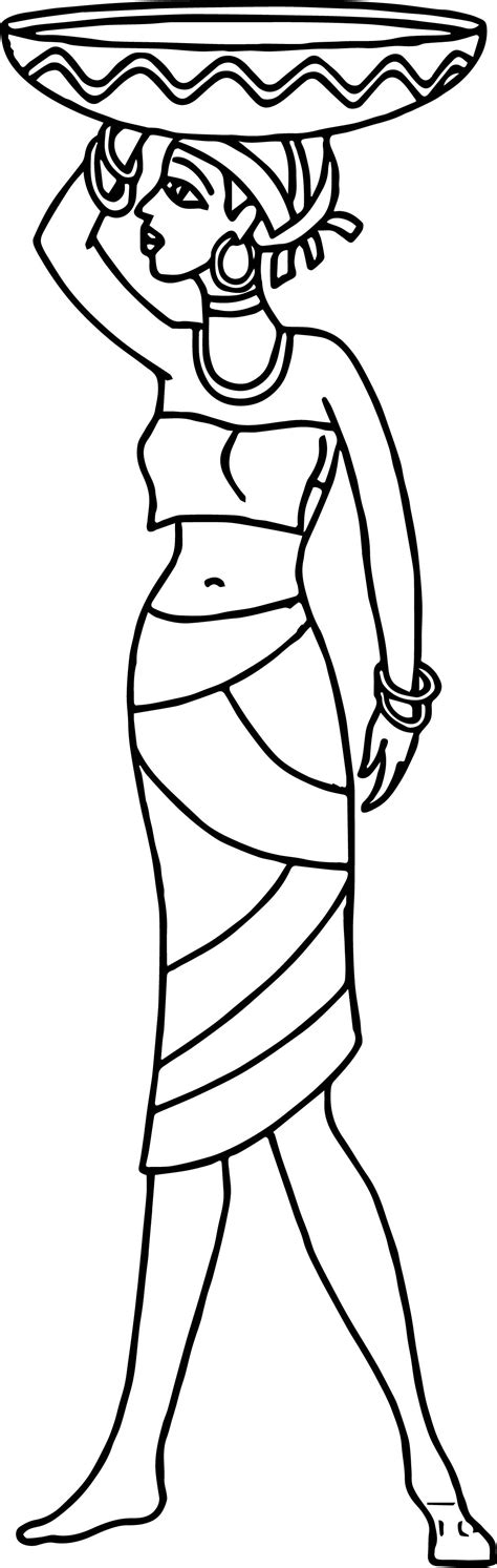 africa coloring pages africa carries basket coloring page wecoloringpage