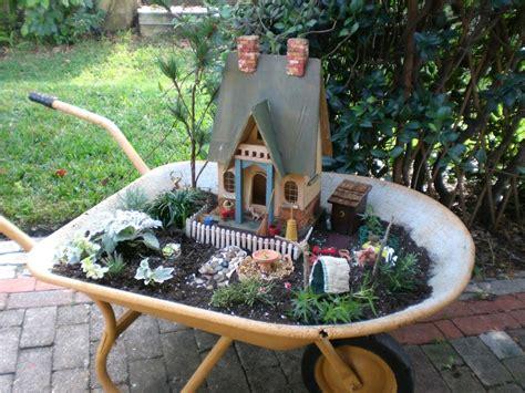 diy wheelbarrow fairy garden the owner builder network