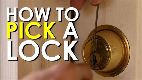pick  lock  art  manliness youtube