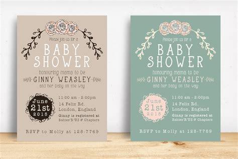 sample baby shower invitation templates  ms
