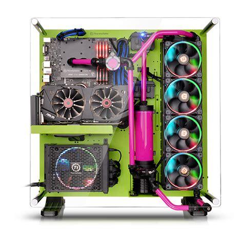 Sharkoon Dg7000 Green Acrylic Windowed Atx Mid Tower Gaming thermaltake italy p5 green edition ca 1e7 00m8wn 00