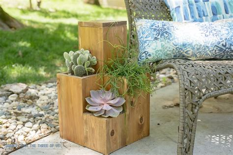 diy planter pot table combo for the patio bigger than