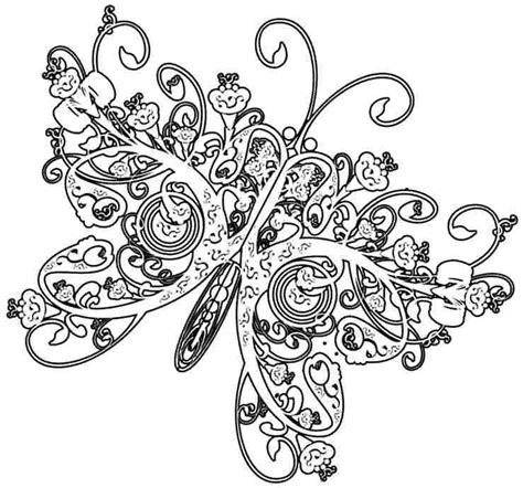 complex butterfly coloring pages free printable complex coloring pages coloring home