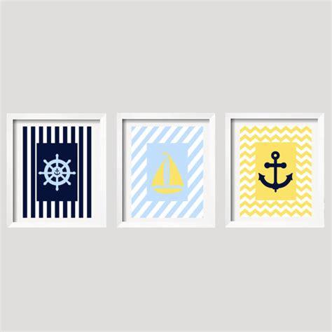 Sailboat Nursery Decor Nautical Wall Decor Sailboat Nursery Decor Anchor Decor Set