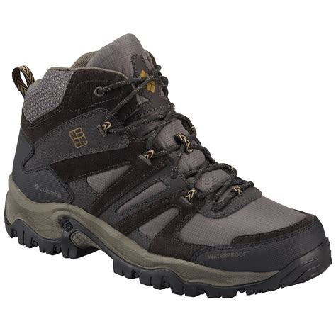 mens hiking boots columbia s woodburn mid waterproof hiking boots
