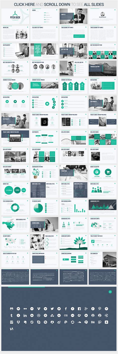 Pitch Deck Powerpoint Template Presentation Templates On Creative Market Powerpoint Pitch Deck Template